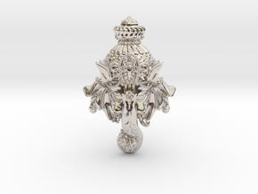 "Ganesha -""Wishing Elephant"" The god of wealth in Rhodium Plated Brass"
