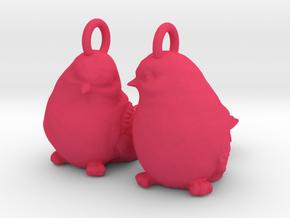 Birds Earrings in Pink Processed Versatile Plastic