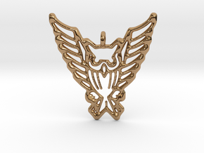 Tribal Owl Pendant in Polished Brass