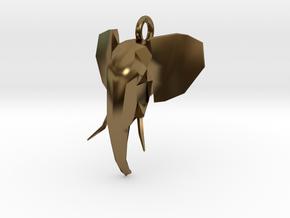 Elephant Head in Polished Bronze