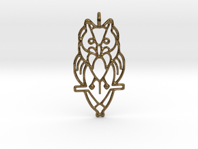 Night Owl Pendant in Polished Bronze