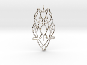 Night Owl Pendant in Rhodium Plated Brass