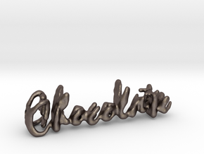 Chocolate Chocolate Necklace in Polished Bronzed Silver Steel