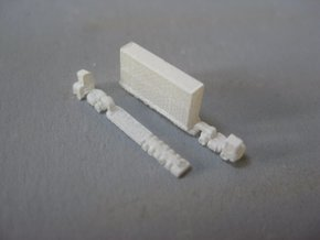 Terminal Tractors (1:1250) in Smooth Fine Detail Plastic