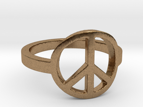 Peace Ring Size 5.5 in Natural Brass: 5.5 / 50.25