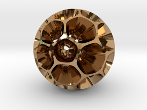 Pollen - Pendant / Keychain in Polished Brass
