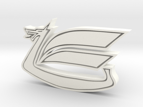 Celica Dragon Cufflink in White Processed Versatile Plastic
