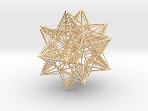 Icosahedron Stellation 3 in 14k Gold Plated Brass