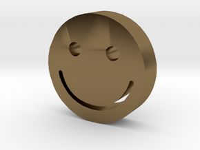 Smiley in Polished Bronze