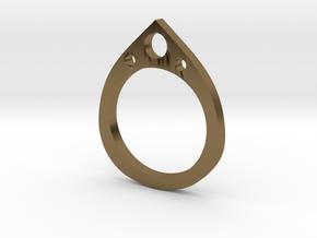 Teardrop Ring in Polished Bronze