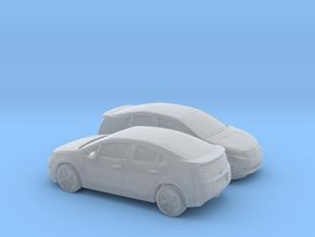 1/148 2X 2013 Chevrolet Volt in Smooth Fine Detail Plastic