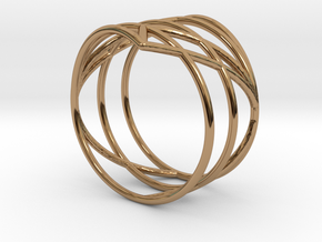 23 Ring 17,20mm in Polished Brass