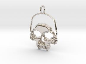 Skull Light Pendant in Platinum