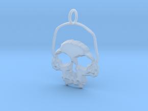 Skull Light Pendant in Smooth Fine Detail Plastic