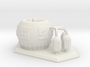 Large 6mm Scale Chemical Plant in White Natural Versatile Plastic