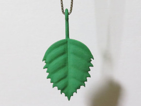 Birch Leaf Pendant in Green Processed Versatile Plastic