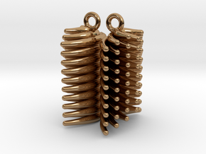 FUR - earrings in Polished Brass