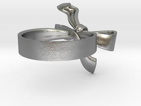 Ribbon Ring in Natural Silver: 5 / 49
