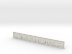"1:24 Cafe Sign 5.5"" in White Strong & Flexible"
