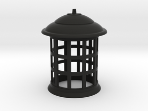 1/4 Scale TARDIS Top Lamp in Black Natural Versatile Plastic