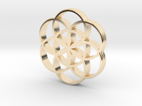 Flower of Life is the source of the universe in 14k Gold Plated Brass