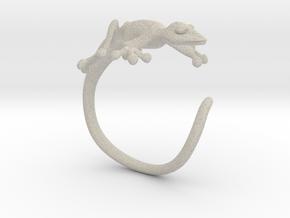 Gekko Wraparound Ring in Natural Sandstone