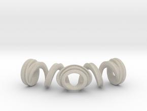 Spiral Bracelet in Natural Sandstone