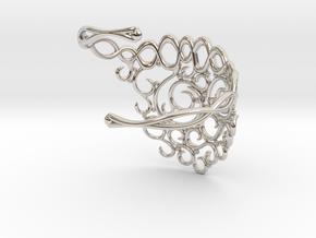 Arabesque Bracelet in Rhodium Plated Brass