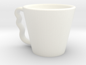 Coffee Cup in White Processed Versatile Plastic