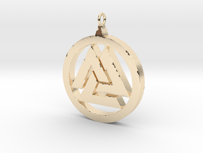 Part-Closed Tri-Pendant in 14K Yellow Gold