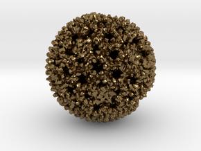 Reovirus in Polished Bronze