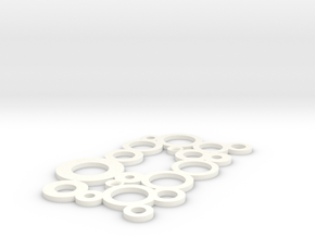 Decorative Switch Plate - Circles in White Strong & Flexible Polished