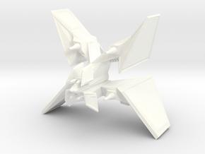 Fighter X in White Processed Versatile Plastic