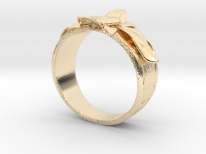 Flower Ring no.10 in 14K Yellow Gold