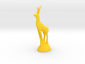 Christmas Deer in Yellow Processed Versatile Plastic