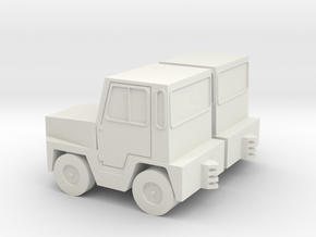 1/87 GSE Airport Baggage Tractor 2pc in White Natural Versatile Plastic