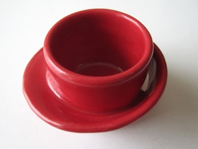 Moebius Cup in Gloss Red Porcelain