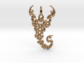 Scorpio Pendant in Polished Brass