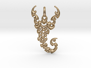 Scorpio Pendant in Polished Gold Steel