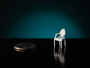 1:48 Philippe Starck Louis Ghost Chair in White Natural Versatile Plastic