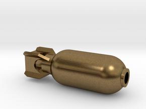 DRAW pendant - color plastic bomb in Natural Bronze