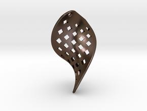 Orecchino Sfoglia in Polished Bronze Steel