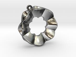 Orecchino Fiore C in Polished Silver