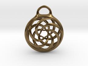 Vortex Pendant in Polished Bronze