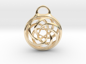 Vortex Pendant in 14k Gold Plated Brass