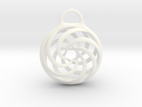 Vortex Pendant in White Processed Versatile Plastic