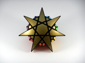 Star of The Seven Puzzle in White Natural Versatile Plastic