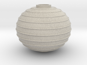 Ribbed Bed Finial in Natural Sandstone