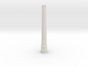 NUch02 Factory chimneys in White Natural Versatile Plastic