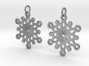 Snowflake Mandala Earrigs in Natural Silver